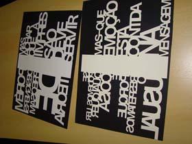 Papel Decorativo com Letras Image